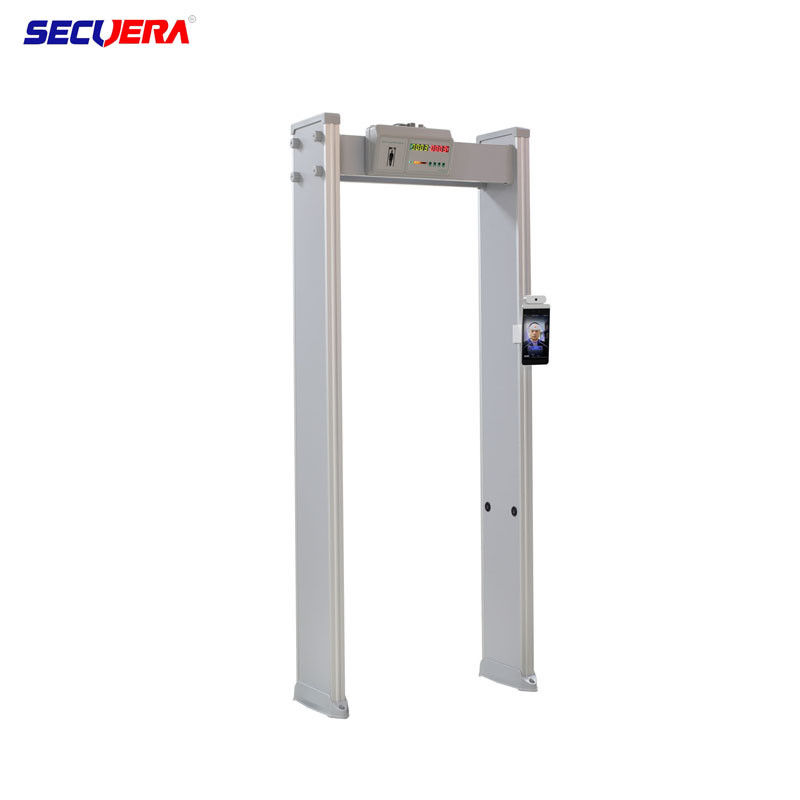 Metal Walk Through Door Frame Body Temperature Measurement With Face Recognizion