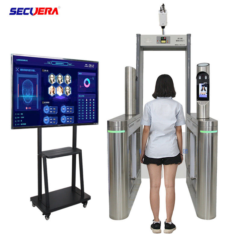 Metal Detector System Walk Through Temperature Scanner With Face Recognition Camera